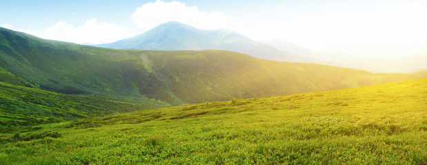 Fotobehang Meloen Mountains landscape in the summer