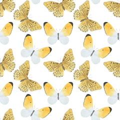 Seamless pattern Butterflies watercolor Illustration handmade design Digital paper Textiles wallpaper photo wallpaper scrapbooking