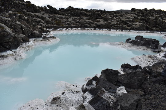 The famous blue lagoon in Reykjavik in Iceland