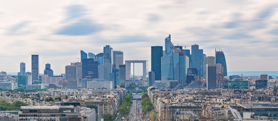 Panoramic Paris city landscape, business district modern buildings in Paris, France Fototapete
