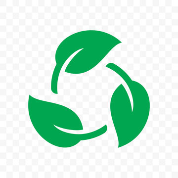 Recycling, Biodegradable recyclable plastic free package icon. Vector bio recyclable degradable label logo template