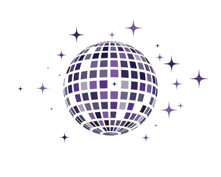 Disco ball vector icon illustration