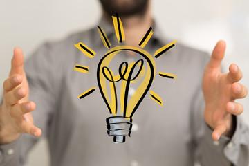 Innovative idea in business - hand concept design..