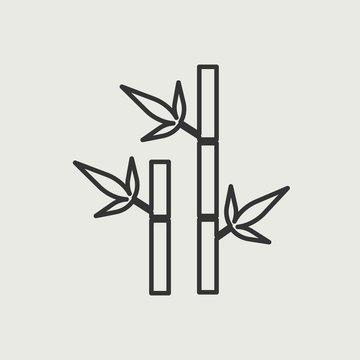 Sugar cane vector icon illustration sign