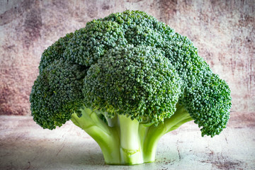 Fresh vegetable: broccoli on a beautiful background Wall mural