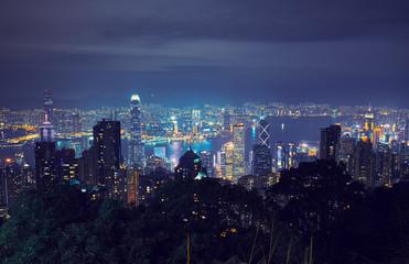 Fotobehang Las Vegas View of Hong Kong and Victoria Harbour