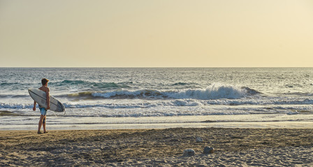 Surfing in December on Grand Canary Island