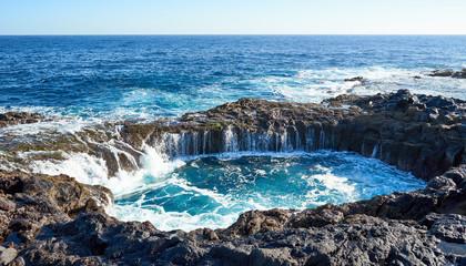 """El Bufadero"" - a natural blowhole on Grand Canary Island"