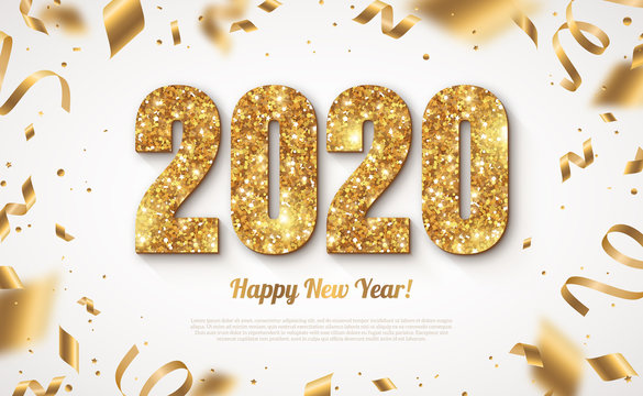 Gold 2020 Numbers New Year