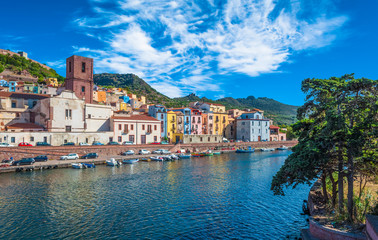 Old village of Bosa on the river Temo