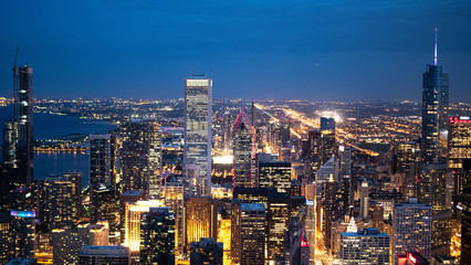 Chicago by night - amazing aerial view over the skyscrapers - travel photography Fototapete