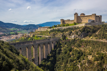 castle on the hill in Spoleto in Umbria