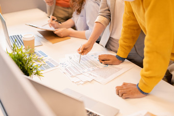 Examining business contract and report