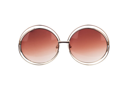 antique hipster sunglasses isolated on white