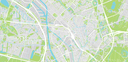 Urban vector city map of Utrecht, The Netherlands Fototapete