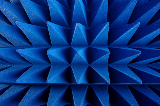 Hybrid pyramidal RF absorbers close up