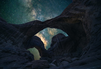 Double Arch under the night sky