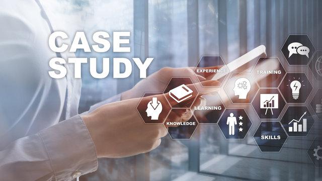 Case Study. Business, internet and tehcnology concept