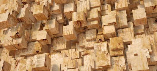 Wood block texture