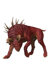 Hound of hell demon dog. 3d renderings. 3d illustrations.