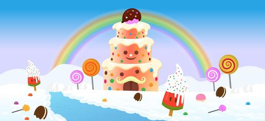 Candyland Vector Illustration