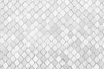 Obraz surface of the white tiles wall. - fototapety do salonu