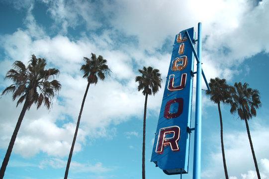 vintage liquor store sign