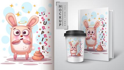 Pretty rabbit - mockup for your idea