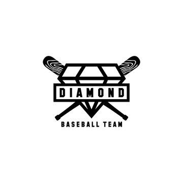 diamond baseball team logo design