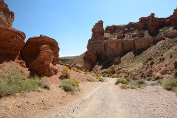 View of Valley of  the castles. Charyn Canyon. Almaty region. Kazakhstan