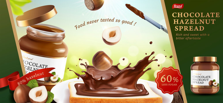 Chocolate hazelnut spread ads