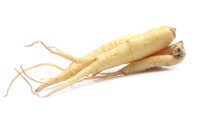 Ginseng isolated on the white background Wall mural
