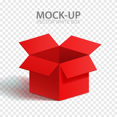 Vector illustration of an empty box. Design element. Empty packaging. Holiday gift for your decoration. Mock-up design.
