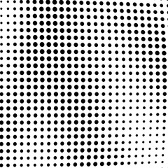 Abstract monochrome halftone texture.