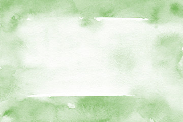 Natural green background with fresh watercolor texture in trendy eco style for modern healthy food design, bio label, eco-friendly products, organic brand style, and web site/app screen backgrounds.
