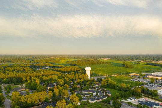 Lumberton North Carolina USA aerial photo