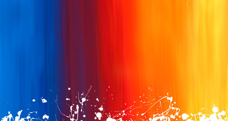 bright abstract gradient watercolor drawing on a paper image