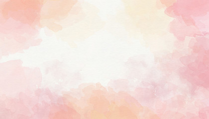 Colorful pink watercolor background for Valentine day or wedding