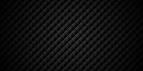 Dark black Geometric grid background Modern abstract texture with dark edges
