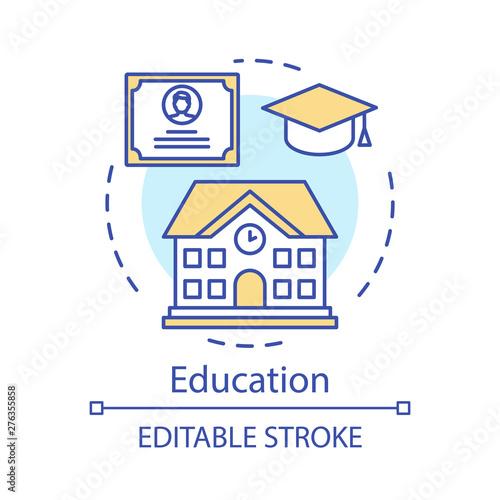Education concept icon  Teacher, school, knowledge, lesson