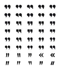 Set of quotes symbols. Quotation marks isolated on white background