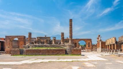 Wall Mural - Ancient ruins of Pompei city (Scavi di Pompei), Naples, Italy
