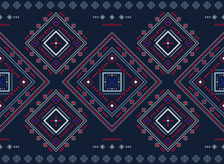 Geometric seamless border. Vector ornament