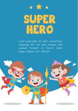 kids superhero card