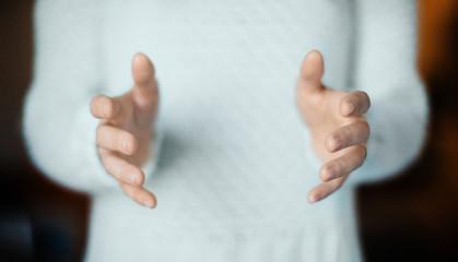 Empty space between hands