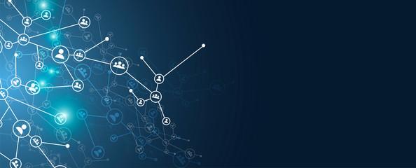 rete, intrecciata, persone, condivisioni, network, tecnologia, Wall mural