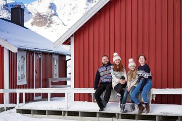 happy family trip to lofoten islands