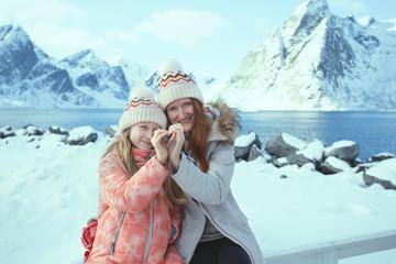 Norwegian mother and daughter