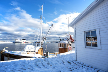 bay in winter