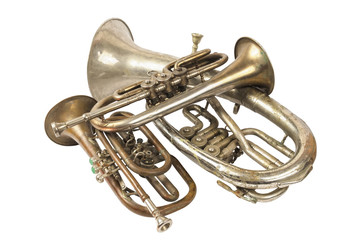 Group of brass instruments